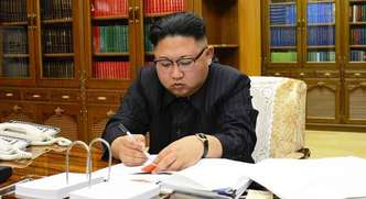 O presidente da Coreia do Norte, Kim Jong-un(foto: AFP PHOTO/KCNA VIA KNS)