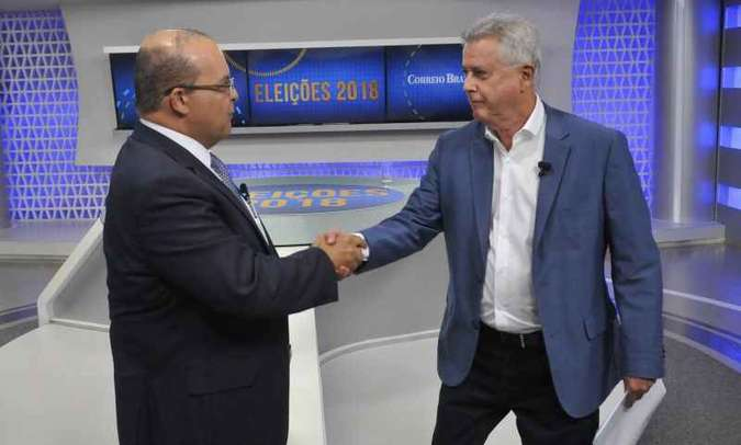 Rollemberg e Ibaneis estreiam segundo turno com debate no Correio (foto: Minervino Junior/CB/D.A Press)