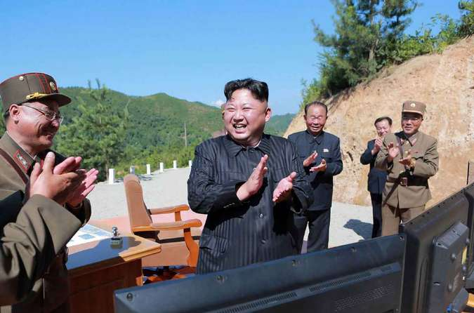 Kim Jong-un celebra o lançamento de míssil (4/7)(foto: North Korea's official Korean Central News Agency (KCNA))